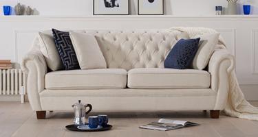 Mark Harris Liv Chesterfield Fabric Sofas