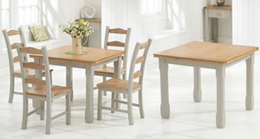 Mark Harris Sandringham Oak and Grey Dining Room