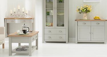 Mark Harris Sandringham Oak and Grey Living Room