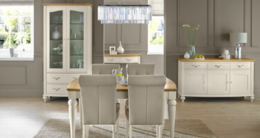 Bentley Designs Montreux Antique White Dining Room