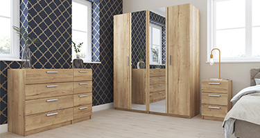 One Call Waterfall Natural Rustic Oak Bedroom