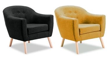 Vida Living Perig Fabric Accent Chair