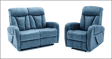 Phoebe Blue Recliner Sofa