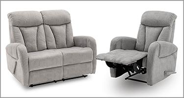 Phoebe Grey Recliner Sofa