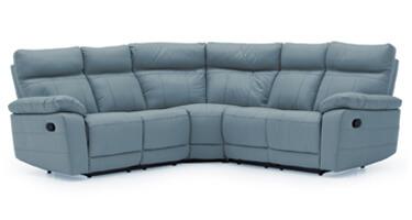 Vida Living Positano Blue Leather Sofa