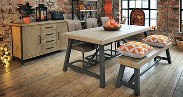 Rovicon Lowry Industrial Dining Room