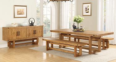 Besp Oak Rustic Winston Dining Room