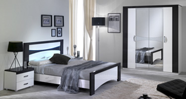 San Martino Jessica White and Black Bedroom