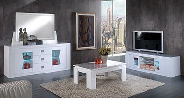 San Martino Las Vegas White Living Room
