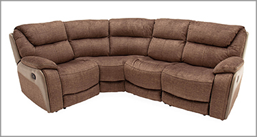 Santiago Brown Recliner Sofa