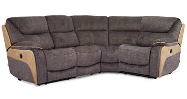 Vida Living Santiago Grey Recliner Sofa