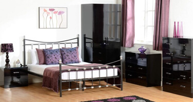 Seconique Charisma Black Gloss Bedroom