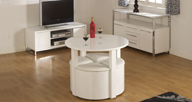 Seconique Charisma White Gloss Living Room
