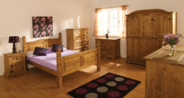 Seconique Corona Pine Bedroom