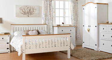 Seconique Corona White Bedroom