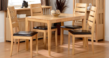 Seconique Logan Oak Varnish Dining Room