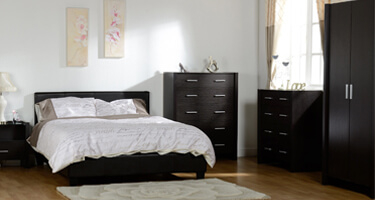 Seconique Prado Black Faux Leather Bedroom