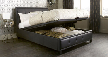Serene Furnishings Faux Leather Ottoman Beds