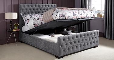 Serene Fabric Ottoman Beds