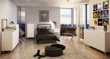 Steens Maga White Bedroom