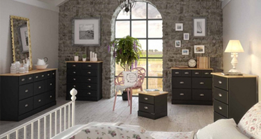Steens Nola Black and Pine Bedroom