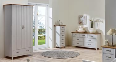Steens Norfolk Grey and Pine Bedroom