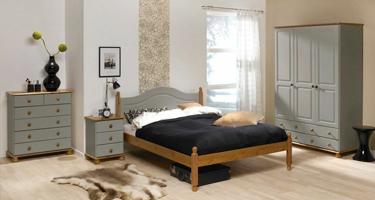 Steens Richmond Grey and Pine Bedroom
