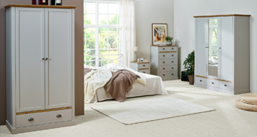 Steens Sandringham Grey and Pine Bedroom
