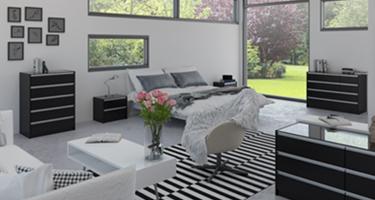 Steens Skyline Black Bedroom