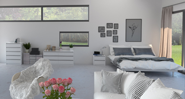 Steens Skyline White Bedroom