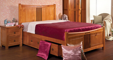 Sweet Dreams Curlew Wild Cherry Finish Bedroom