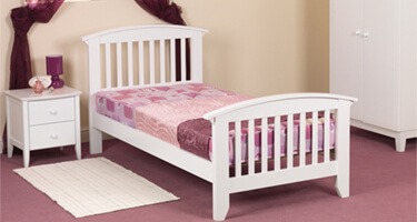 Sweet Dreams Ruby White Finish Kids Bedroom