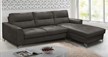 Vida Living Tanaro Grey Leather Sofa