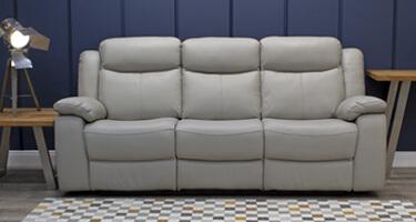 Vida Living Torretta Light Grey Recliner Sofa