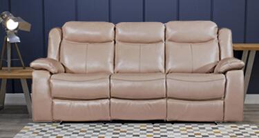 Vida Living Torretta Taupe Recliner Sofa