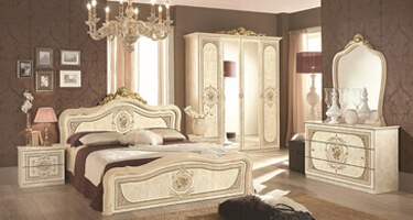 Tuttomobili Alice Beige Finish Bedroom