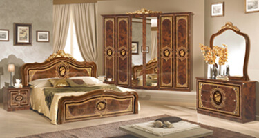Tuttomobili Alice Walnut Finish Bedroom