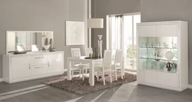 Tuttomobili Cristal White Dining Room