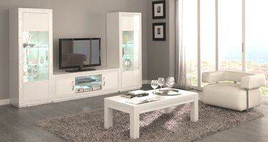 Tuttomobili Cristal White Living Room