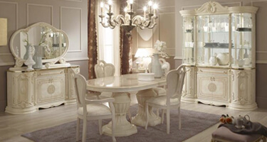 Tuttomobili Greta Beige Finish Dining Room