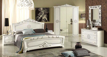 Tuttomobili Greta White Finish Bedroom
