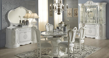 Tuttomobili Greta White Finish Dining Room