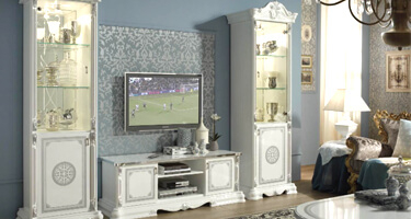 Tuttomobili Greta White Finish Living Room