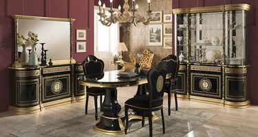 Tuttomobili Venus Black Finish Dining Room
