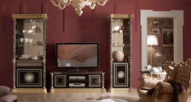 Tuttomobili Venus Black Finish Living Room