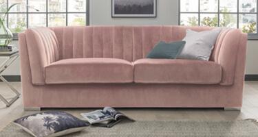 Vida Living Upton Blush Fabric Sofa