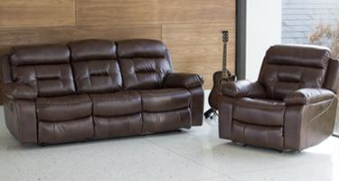 Vida Living Bellini Chestnut Leather Sofas