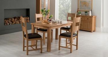 Vida Living Breeze Oak Dining Room