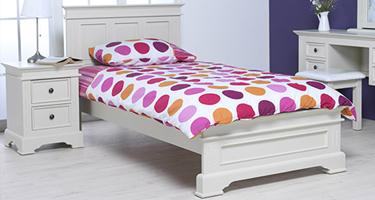 Vida Living Deauville Ivory Finish Bedroom