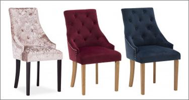 Vida Living Hobbs Crushed Velvet Dining Chairs